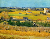 "Landscape Art tumblr ""Harvest at Sa Crau"" ""Vincent van Gogh"""