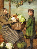 Grandmother and Grandaughter with Basket of Vegetables - Hans Th