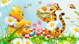 Picnic-flowers-grass-bee-winnie-the-pooh-tigger-