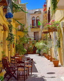 Chania street in old town