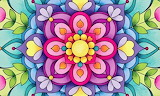 colorful flower abstract art