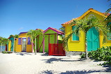 Colored-huts-beach