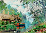 ^ House on the river - Pixabay