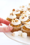 ^ Mini Sweet Potato Cupcakes