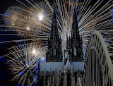 Cologne cathedral - fireworks
