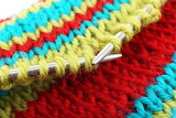 Knitting close up
