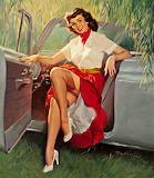 1950's Lady  Pin-Up