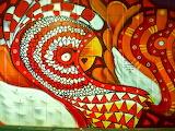 Abstract Tiled Turkey