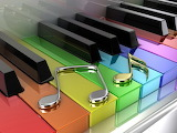 Colourful Piano Keys