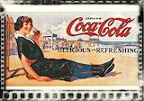 Vintage Coca Cola Beach Poster