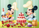 Mickey and Minnie Baking a Cake