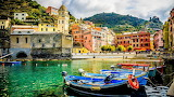 Boats Marinas Italy Vernazza Houses Cove