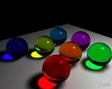 Esferas colores cristal