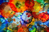 Colourful glass art