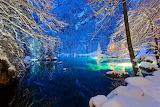 Switzerland Winter Lake Evening Kander Valley Snow 541162 1280x8