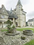 Cour du château de Talcy ( Loir-et-Cher)
