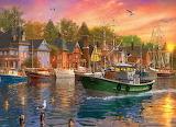Harbor Sunset - Dominic Davison