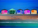 Pretty modern beach huts