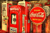 Retro Gas Station Pumps