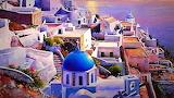Lovely painting of Santorini in Greece
