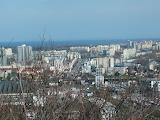 Widok z wieży na wysokości ul. Bażyńskiego