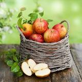 Basket of healthy fruit