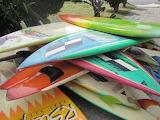 ^ Vintage surfboards