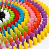 colorful domino