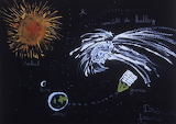 Giotto/Halley's Comet Children's Art, HQ-PHOTO-1986.X.22.1-15