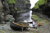 Wooden Boats. Gjogv. Faroe Islands
