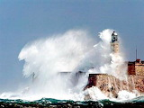 Wave Attack on the El Morro Lighthouse Cuba