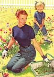 In giardino con la mamma