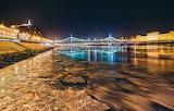 Frozen river Danube - Budapest - Hungary