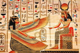 Maat Kneels Before Hathor