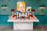 Pink Red White Gold Candy Buffet