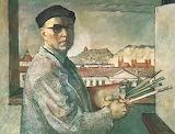 Ludomir Skeńdziński, Autoportret, 1956