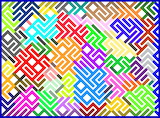 Abstract Colour Maze