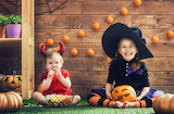halloween, children