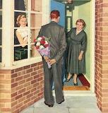 Surprise Fowers~ vintage Magazine art