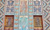 Building-facade-doors-mosaic