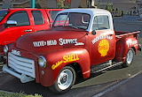 GMC pickup. Shell fuel.