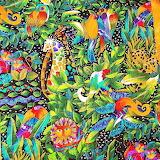 Laurel Burch jungle print bright