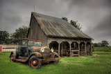 Rustic Barn and Old Car
