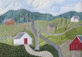 ^ Mountain Landscape Mini Art Quilt