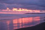 pink beach pink sunset