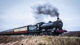 Santa Express going through Yorkshire Dales