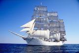 Tall ship Christian Radich under sail