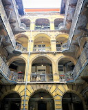 Open halls old tenement house Hungary
