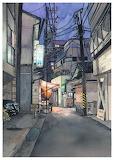 "Art tumblr archatlas ""Tokyo at Night"" ""Mateusz Urbanowicz""3"