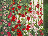 hollyhocks quilt